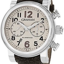 Graham Silverstone Vintage 30 Chronograph Beige Dial Brown...