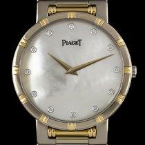 Piaget 18k W/G & 18k Y/G MOP Diamond Dial Dancer B&P...
