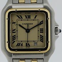 Cartier Panthere Mediumarmbanduhr Stahl/Gold