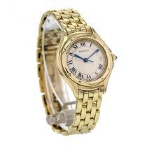 Cartier Cougar Yellow Gold Quartz Cream Dial Women's Watch...