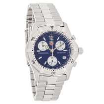 TAG Heuer 2000 Classic Mens Blue Dial Swiss Chronograph Watch...