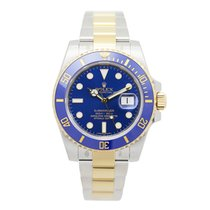 Rolex Submariner(date) Gold And Steel Blue Automatic 116613LB