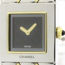 Chanel Polished Chanel Matelasse 18k Gold Steel Quartz Ladies...