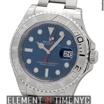 Rolex Yacht-Master Stainless Steel And Platinum Blue Dial 40mm...
