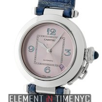 Cartier Pasha Collection Pasha C Stainless Steel 35mm Pink Dial