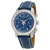 Breitling Breiting Montbrillant Chronograph Blue Dial Blue...