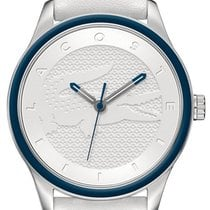 Lacoste Victoria Steel Womens Fashion Watch White Strap Blue...