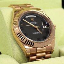 Rolex President Day-date 41mm 218235 18k Rose Gold Black...