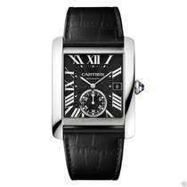Cartier Tank MC W5330004 Stainless Steel Black Leather