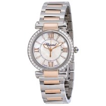 Chopard Mother of Pearl Dial Steel and 18kt Rose Gold Ladies...