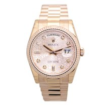 Rolex Day Date 18k Rose Gold Pink Automatic 118235ACOMP