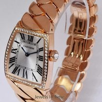Cartier LG La Dona 18k Rose Gold & Diamonds Quartz Watch...