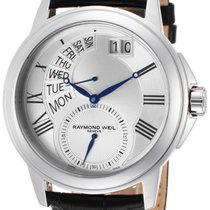Raymond Weil Tradition Retrograde Steel Mens Watch Day-of-Week...
