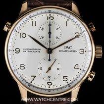 IWC 18k R/G Portuguese Chrono Rattrapante B&P IW371203