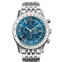 Breitling Navitimer World Stahlband Automatik Chronograph 46 mm