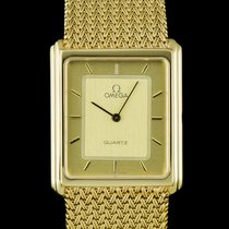Omega 18k Yellow Gold Champagne Dial Quartz Dress Gents...