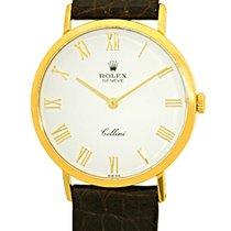 "Rolex ""Cellini"" Round Case Strapwatch."