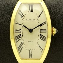 Cartier Tonneau Lady in 18 kt yellow gold, from 90s