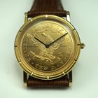 Corum $10 Liberty Coin watch 32 mm excellent c.2000's