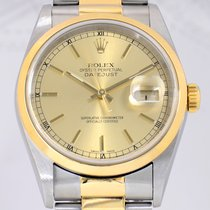 Rolex Datejust Oysterband stahl/gold bicolor golden dial...