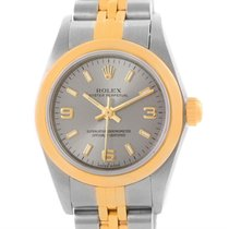 Rolex Nondate Stainless Steel 18k Yellow Gold Ladies Watch 76183