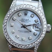 Rolex Steel Ladies 26mm Datejust Watch Warranty 1998 Serial...