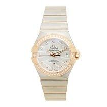 Omega Constellation 18k Rose Magic Diamond White Automatic...