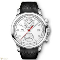 IWC Portuguese Yacht Club Chronograph Stainless Steel Silver...