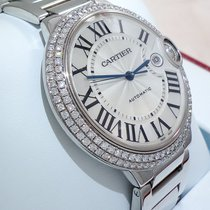 Cartier 18k White Gold Ballon Bleu Xl 42mm Factory Diamond...