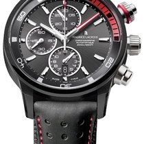 Maurice Lacroix Pontos S Extreme Chronograph, Date, Black and Red