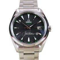 Omega Seamaster Aqua Terra Golf 150M Black Co-Axial Stainless...