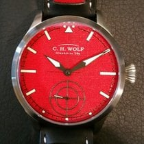 C.H. Wolf Glashütte Pilot Red