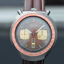 Seiko Bullhead Chronograph Anno 1977 Brown Dial