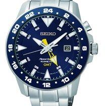 Seiko Kinetic GMT Farbe Blau