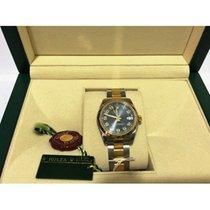 Rolex Datejust Midsize Bimetal Arabic Blue Face Lady 178243