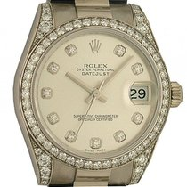 Rolex Datejust Medium Weißgold Diamond Automatik Armband...