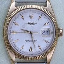 Rolex Vintage Rare 6605 Datejust 18k Bullet  Gold Year 1954 /...