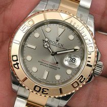 Rolex Yachtmaster 16623 Mens Steel & Yellow Gold Oyster...