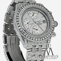 Breitling Evolution A13356 Silver Dial 15ct Diamond Watch