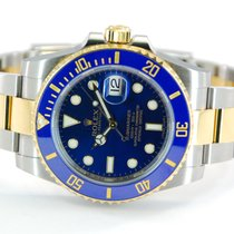 Rolex Submariner Two Tone 18kt Yellow Gold/SS Blue Dial-116613LB