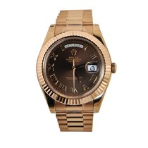 Rolex Day-Date II President Rose Gold - Chocolate Dial 218235...