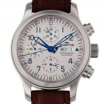 Fortis B-42 Flieger Chronograph Stahl Automatik Glasboden 42mm...