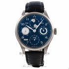 IWC Portugieser Perpetual Seven Day Reserve Blue Dial 44.2mm...