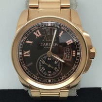 Cartier Calibre Chocolate Dial 42mm Automatic Full 18k Rose Gold
