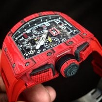 Richard Mille RM-11 Red Quartz CarbonTpt Ntpt Complete Box Paper
