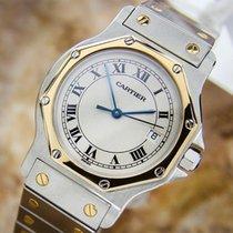 Cartier Santos Quartz 18k Gold And Stainless Steel Watch J769