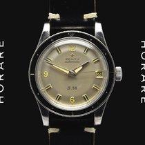 Zenith 1960s S58 Mark III Bakelite Bezel, Silver Dial, Automatic