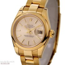 Rolex Lady Datejust Ref-179168 18k Yellow Gold Papers Bj-2006...
