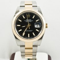 Rolex  41mm Datejust 126333 Oyster Band Black Index Face