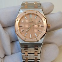 Audemars Piguet Royal Oak 33 pink gold toned dial in stainless...
